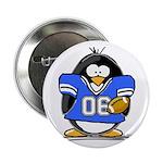 Blue Football Penguin Button