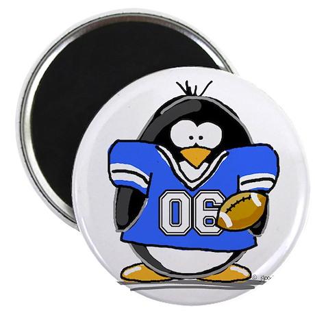 Blue Football Penguin Magnet