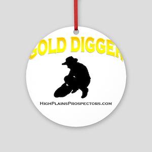 Gold Digger Prospectors Shirt Ornament (Round)