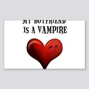 My Boyfriend Is A Vampire Sticker (Rectangle)
