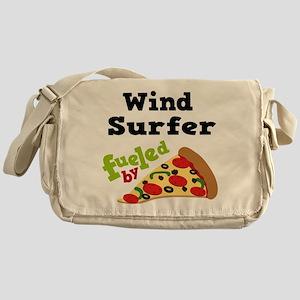 Wind Surfer Funny Pizza Messenger Bag