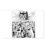 Vintage Cat Alice in Wonderland Postcards (Package