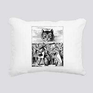 Vintage Cat Alice in Wonderland Rectangular Canvas