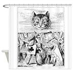 Vintage Cat Alice in Wonderland Shower Curtain
