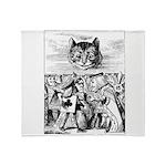 Vintage Cat Alice in Wonderland Throw Blanket