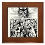 Vintage Cat Alice in Wonderland Framed Tile