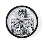 Vintage Cat Alice in Wonderland Wall Clock