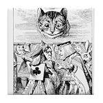 Vintage Cat Alice in Wonderland Tile Coaster