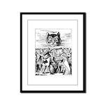 Vintage Cat Alice in Wonderland Framed Panel Print
