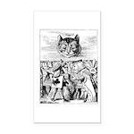 Vintage Cat Alice in Wonderland Rectangle Car Magn