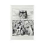 Vintage Cat Alice in Wonderland Rectangle Magnet