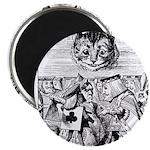 Vintage Cat Alice in Wonderland Magnet