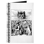 Vintage Cat Alice in Wonderland Journal