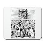 Vintage Cat Alice in Wonderland Mousepad