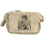 Vintage Cat Alice in Wonderland Messenger Bag