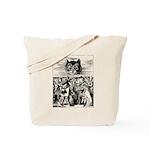 Vintage Cat Alice in Wonderland Tote Bag