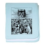 Vintage Cat Alice in Wonderland baby blanket