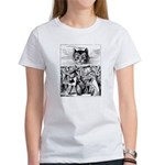 Vintage Cat Alice in Wonderland Women's T-Shirt