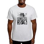 Vintage Cat Alice in Wonderland Light T-Shirt