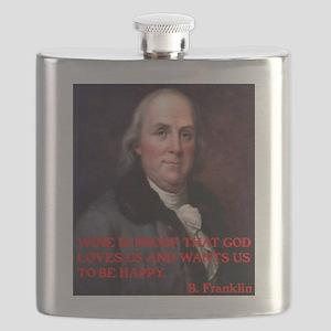 WINE QUOTE™ BEN FRANKLIN Flask
