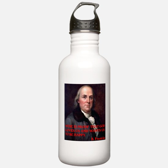WINE QUOTE™ BEN FRANKLIN Water Bottle