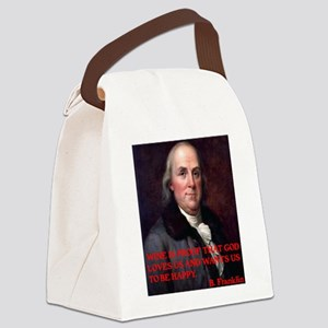 WINE QUOTE™ BEN FRANKLIN Canvas Lunch Bag