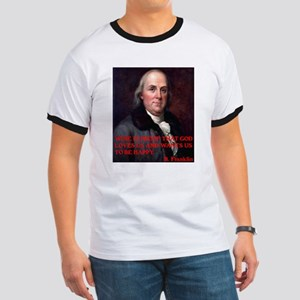 WINE QUOTE™ BEN FRANKLIN Ringer T