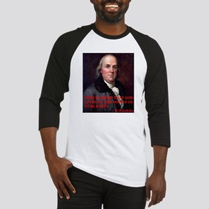 WINE QUOTE™ BEN FRANKLIN Baseball Jersey
