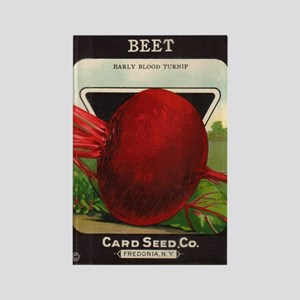 Antique Seed Packet Art Beet Rectangle Magnet