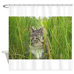Stalking Kitty Shower Curtain