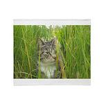 Stalking Kitty Throw Blanket
