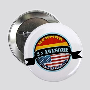 """German American 2x Awesome 2.25"""" Button"""