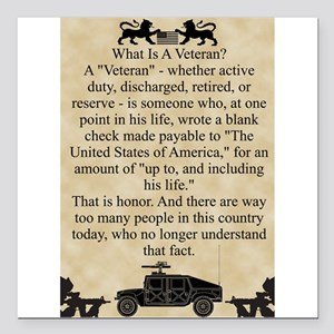"""What is a Veteran Square Car Magnet 3"""" x 3"""""""