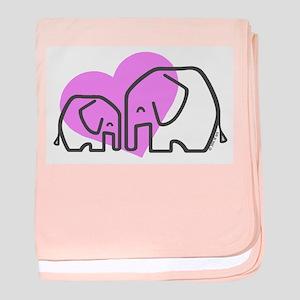 Elephants (1) baby blanket
