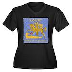 USS LOWRY Women's Plus Size V-Neck Dark T-Shirt