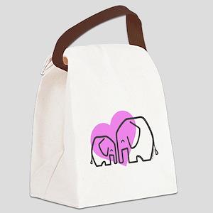 Elephants (1) Canvas Lunch Bag