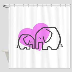Elephants (1) Shower Curtain