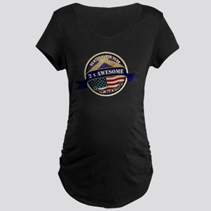 Scottish American 2x Awesome Maternity Dark T-Shir