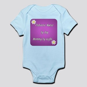 Pediatric by day Mommy by night Infant Bodysuit