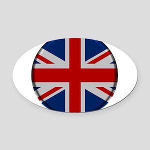 United Kingdom Button Oval Car Magnet