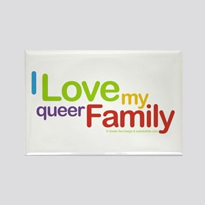 """""""I Love My Queer Family"""" Rectangle Magnet (10 pack"""
