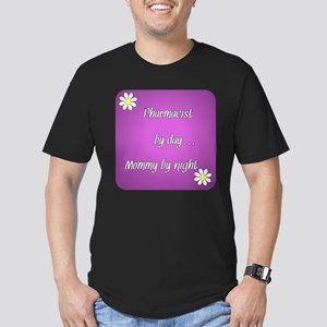 Pharmacist by day Mommy by night Men's Fitted T-Sh