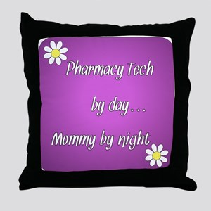 Pharmacy Tech by day Mommy by night Throw Pillow
