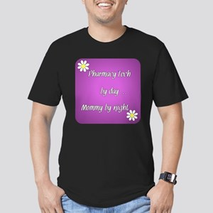 Pharmacy Tech by day Mommy by night Men's Fitted T
