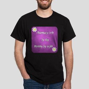 Pharmacy Tech by day Mommy by night Dark T-Shirt