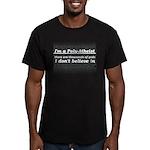 Poly-Atheist Men's Fitted T-Shirt (dark)
