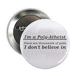 """Poly-Atheist 2.25"""" Button"""