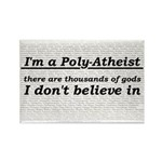 Poly-Atheist Rectangle Magnet