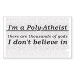 Poly-Atheist Sticker (Rectangle)