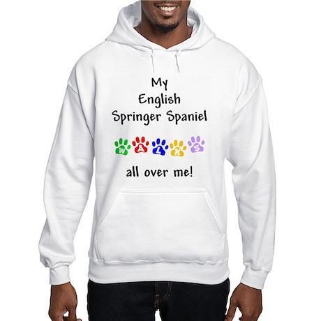 English Springer Walks Hooded Sweatshirt